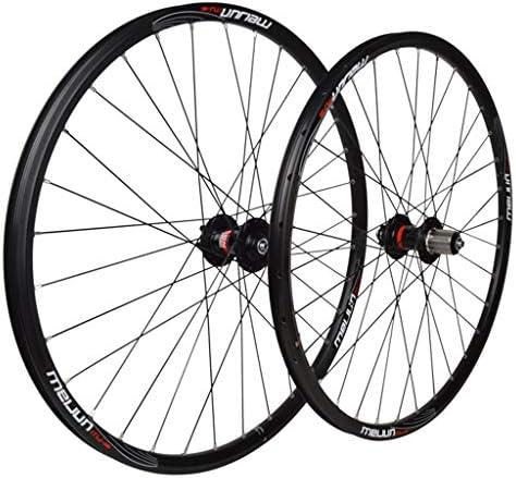 """自転車ホイールセット26"""" マウンテンバイク用 アルミニウム合金 MTB ダブルウォールリム ディスクブレーキ 7-10スピード カードハブ 6シールドベアリング QR 32H"""