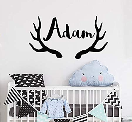 Ajcwhml Nombre Personalizado niño Etiqueta de la Pared Deer ...