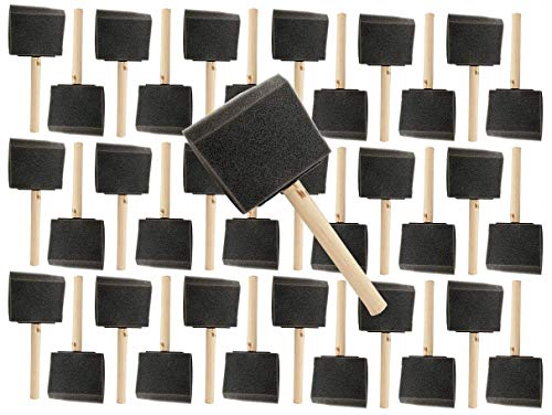 Pro Grade - Foam Brushes - 3 Inch - 36 Piece Poly Foam Brush Set