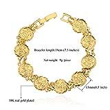 Women 18K Gold Plated Fashion Coin Link Bracelet