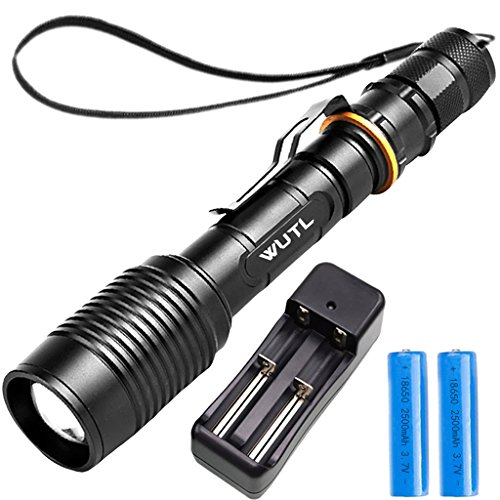 Led Tactical Flashlight High Lumens Battery Included Rechargeable Handheld Torch Zoomable Shock Resistant Waterproof Survival Light Long Size Best for Outdoor Automotive Emergency