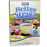French Vanilla Stevia Packets, 75/box by Now Foods (Pack of 6)