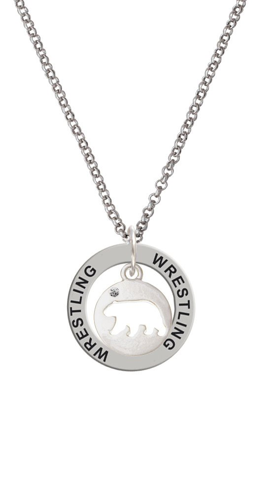 Bear Silhouette - Wrestling Affirmation Ring Necklace