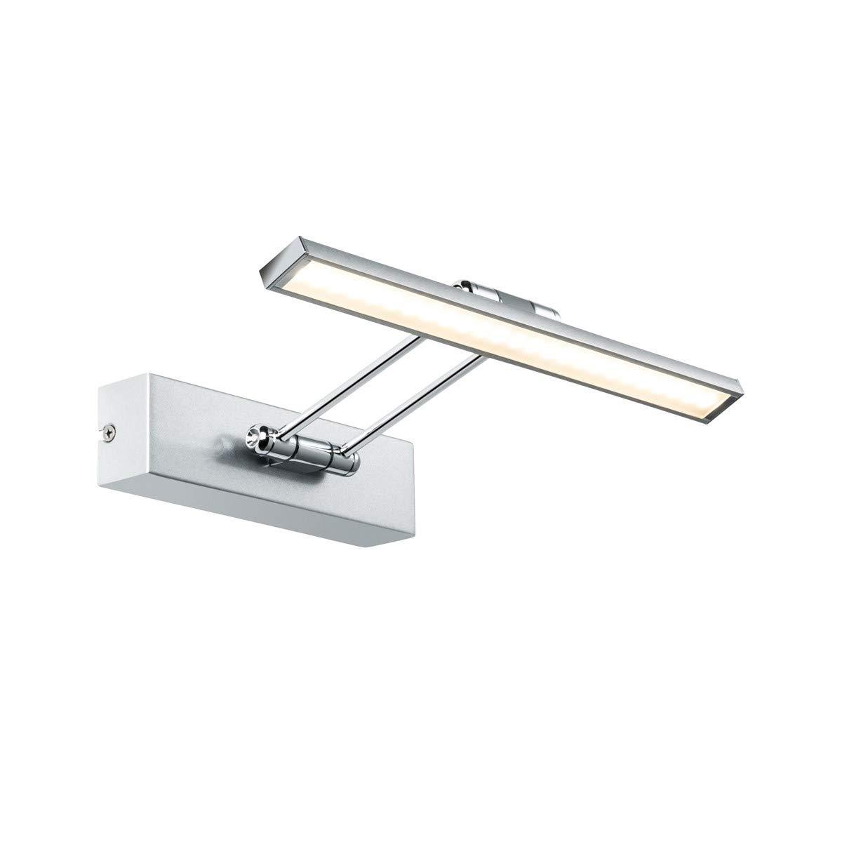 Paulmann 99894 Galeria Bilderleuchte LED Bildbeleuchtung Beam Thirty Galeriebeleuchtung 5W Aufsatzlampe Nickel gebürstet Strahler inkl. Leuchtmittel