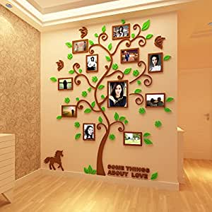 Photo frame wall creative beauty 3D crystal acrylic three-dimensional wall paste living room TV sofa background wall stickers wall decoration can be removed wall paste