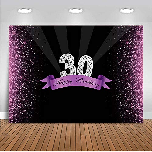 COMOPHOTO 30th Birthday Theme Party Backdrop for Photography