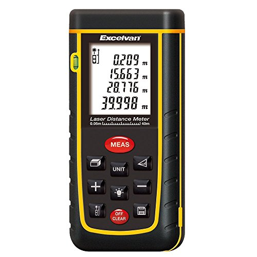 Laser-Entfernungsmesser 0,05-40 m Messbereich +/- 2mm Messgenauigkeit Laser Distanzmessgerät