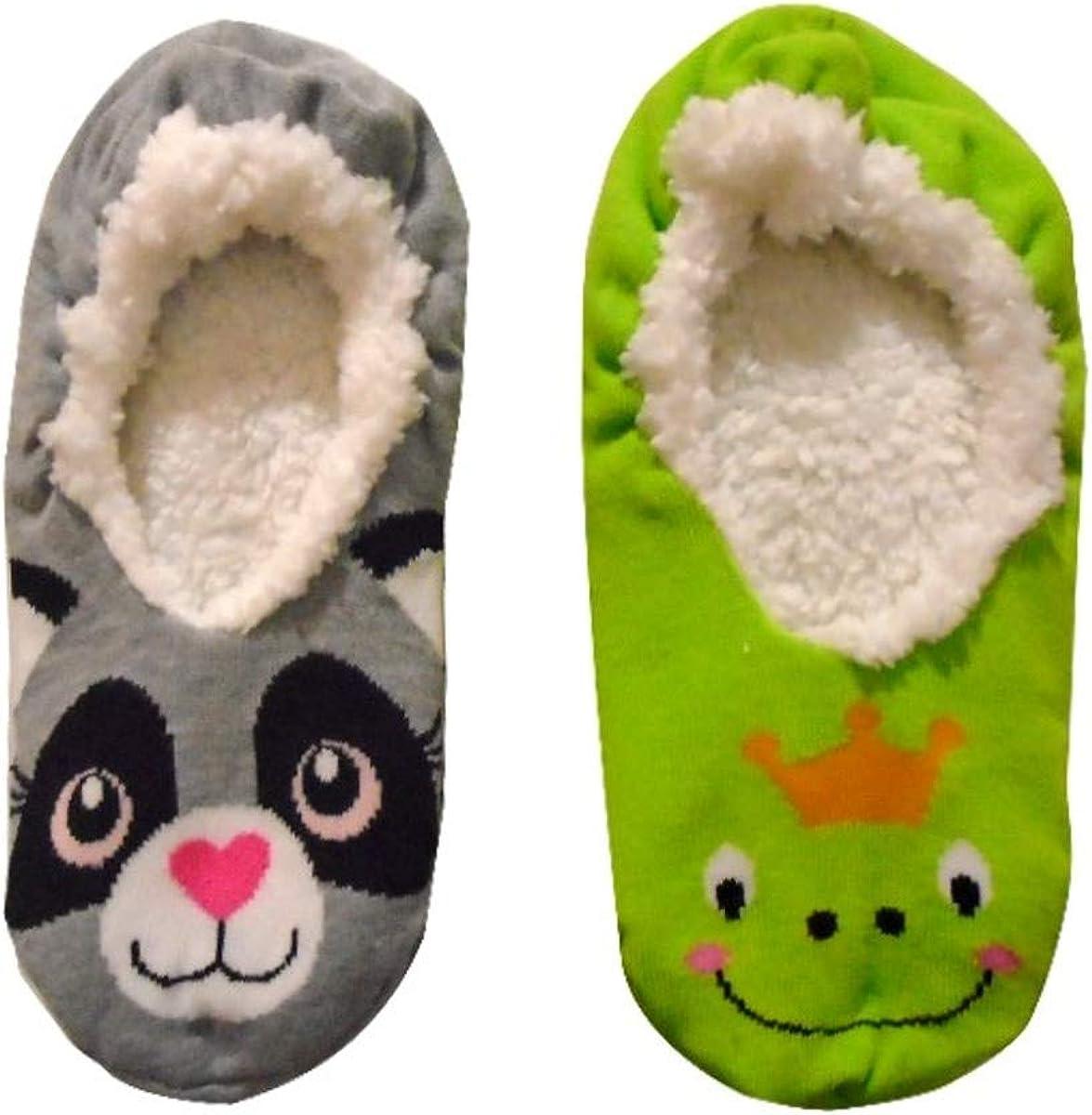 confezione da 2 per bambina Thingimijigs Calzino per pantofole per animali