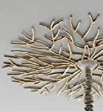 Large Golden Twig Ceiling Medallion
