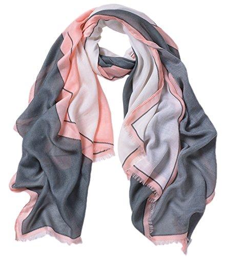 Bufandas Tul bufandas de Anti Todas Colorido Colores las Uv mant Larga mujer 5 mezclados gqwEtxzpx
