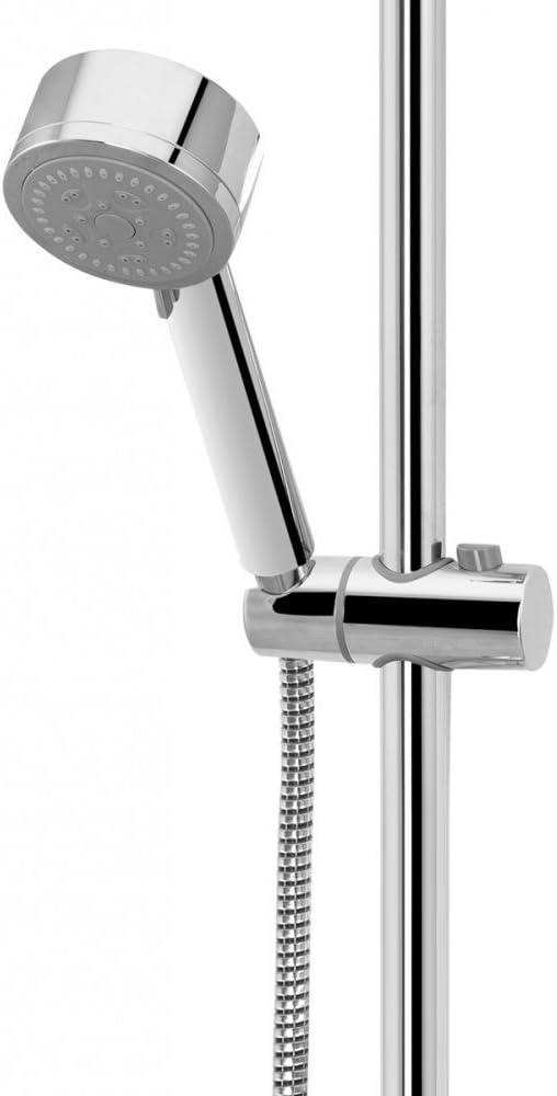 Soporte de ducha de mano Soporte de cabezal de ducha ajustable 360 /° para di/ámetro 19MM Cabezal de barra de deslizamiento ABS Cabeza de cromo Cromo plateado