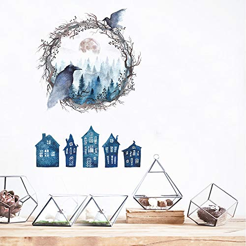 Euone Halloween Wall Stickers , Haunted House Ghost