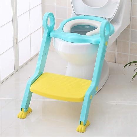 Escaleras de baño para niños Sentado Silla de asiento de inodoro Estera de asiento para niños: Amazon.es: Bebé