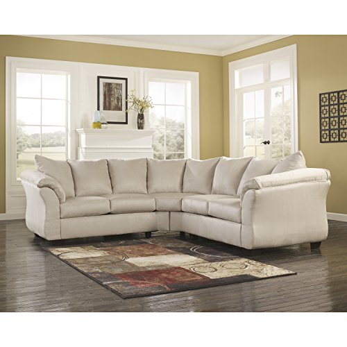 Signature Design by Ashley Flash Furniture Darcy Sectional in Stone (Microfiber Sectional Set)