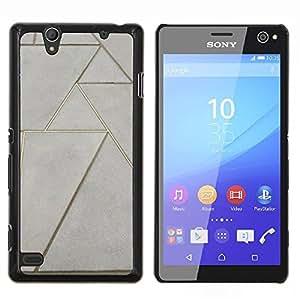 EJOOY---Cubierta de la caja de protección para la piel dura ** Sony Xperia C4 ** --Piso Diseño arte de la pared
