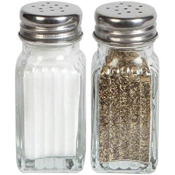 salt and pepper glass shakers set kitchen dining. Black Bedroom Furniture Sets. Home Design Ideas