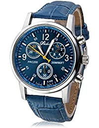 Men Watches,SMTSMT Crocodile Faux Leather Mens Analog Watch Watches-Blue