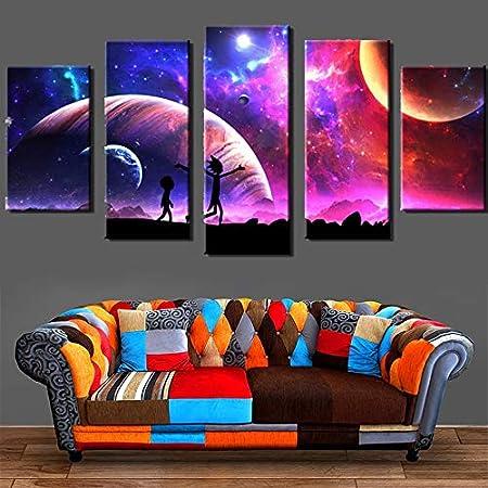 mmwin Canvas Pictures Home Wall Art Decor 5 Piezas Pintura ...