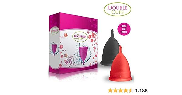 Blossom - Copa menstrual, Combo, Rojo y Negro: Amazon.es ...