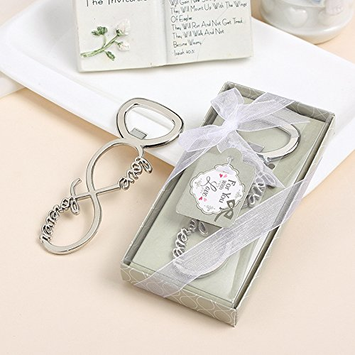 Love Forever Bottle Opener Wedding Favors And Gifts Wedding Gifts For Guests Wedding Souvenirs Party Supplies (100) -