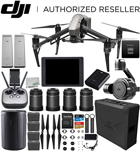 "DJI Inspire 2 Quadcopter (CinemaDNG and Apple ProRes Licenses Included) with Zenmuse X7 + DJI CrystalSky 7.85"" High-Brightness Monitor + DL & DL-S Lens Set Ultimate Handheld Bundle"