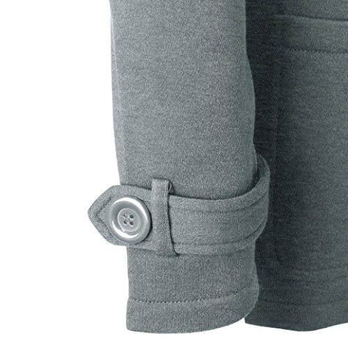 Casual Abrigo de Capa con Ropa Pullover Jacket Sudadera Logobeing Invierno Parka Chaqueta Gris Capucha Lana Mujer qIxaw4gR