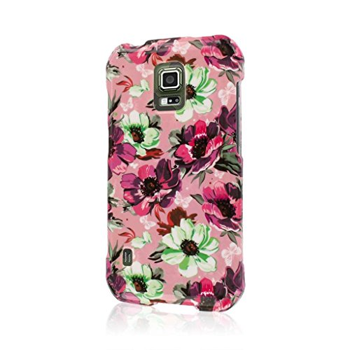 MPERO SNAPZ Series Rubberized Case for Samsung Galaxy S5 Active / GS5 Active - Vintage Pink Flower