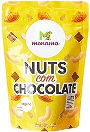Snack de Nuts com Chocolate 80% sem Açúcar Vegano Monama 40g