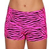 Gia Mia Girl's Print Dance Short Small (4-6) Pink Zebra