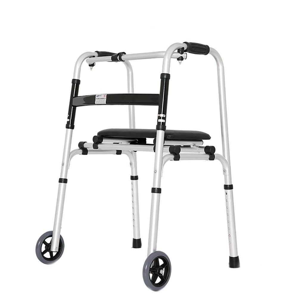 高齢者のウォーカーは、アルミニウム合金の高齢者四足歩行スティック車輪付きウォーカートロリー   B07LG89NTR