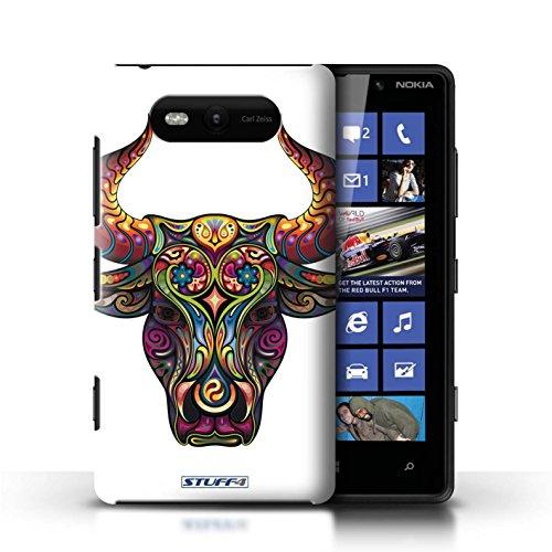 Etui / Coque pour Nokia Lumia 820 / Taureau conception / Collection de Animaux décoratifs