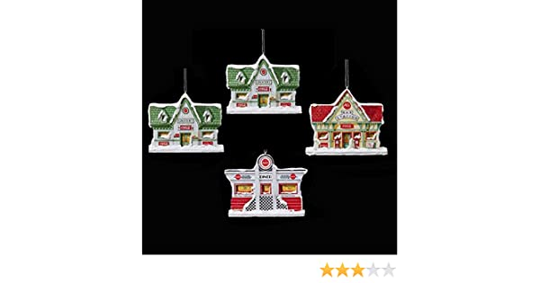 Amazon.com: Kurt Alder Coca-Cola Holiday Village Assortment of 4 ...