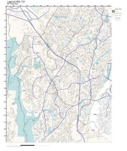 ZIP Code Wall Map of Laguna Hills, CA ZIP Code Map ()