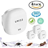 Ultrasonic Pest Repeller, 4 Pack Electronic Plug - in DOUBLE IMPACT Pest Control Ultrasonic for Insects, Roaches, Flies, Ants, Spiders, Mice, Bugs