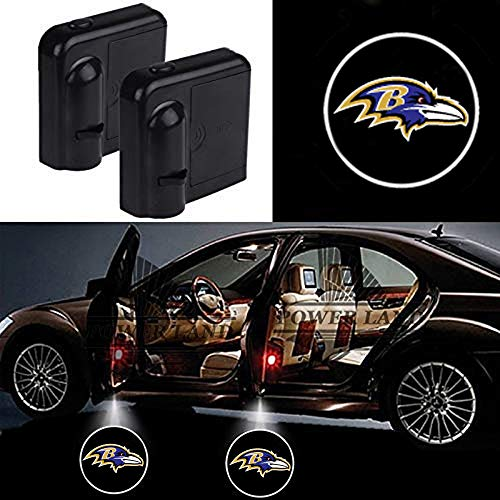 For Baltimore Ravens Car Door Led Welcome Laser Projector Car Door Courtesy Light Suitable Fit for all brands of cars (Baltimore Ravens)