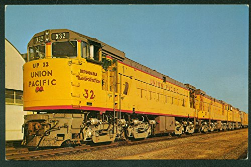 TRIO of Union Pacific Diesel Engines Los Angeles California Railroad Postcard