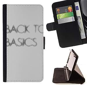 King Case - FOR Apple Iphone 6 PLUS 5.5 - back to basics - Prima caja de la PU billetera de cuero con ranuras para tarjetas, efectivo Compartimiento desmontable y correa para la mu?eca