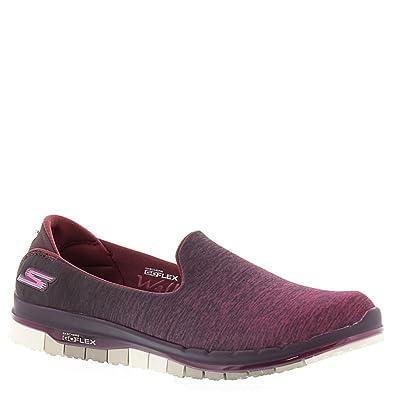 Skechers Go Flex Walk Muse Womens Slip On Walking Sneakers Burgundy 7.5   Amazon.co.uk  Shoes   Bags c42bd29c6