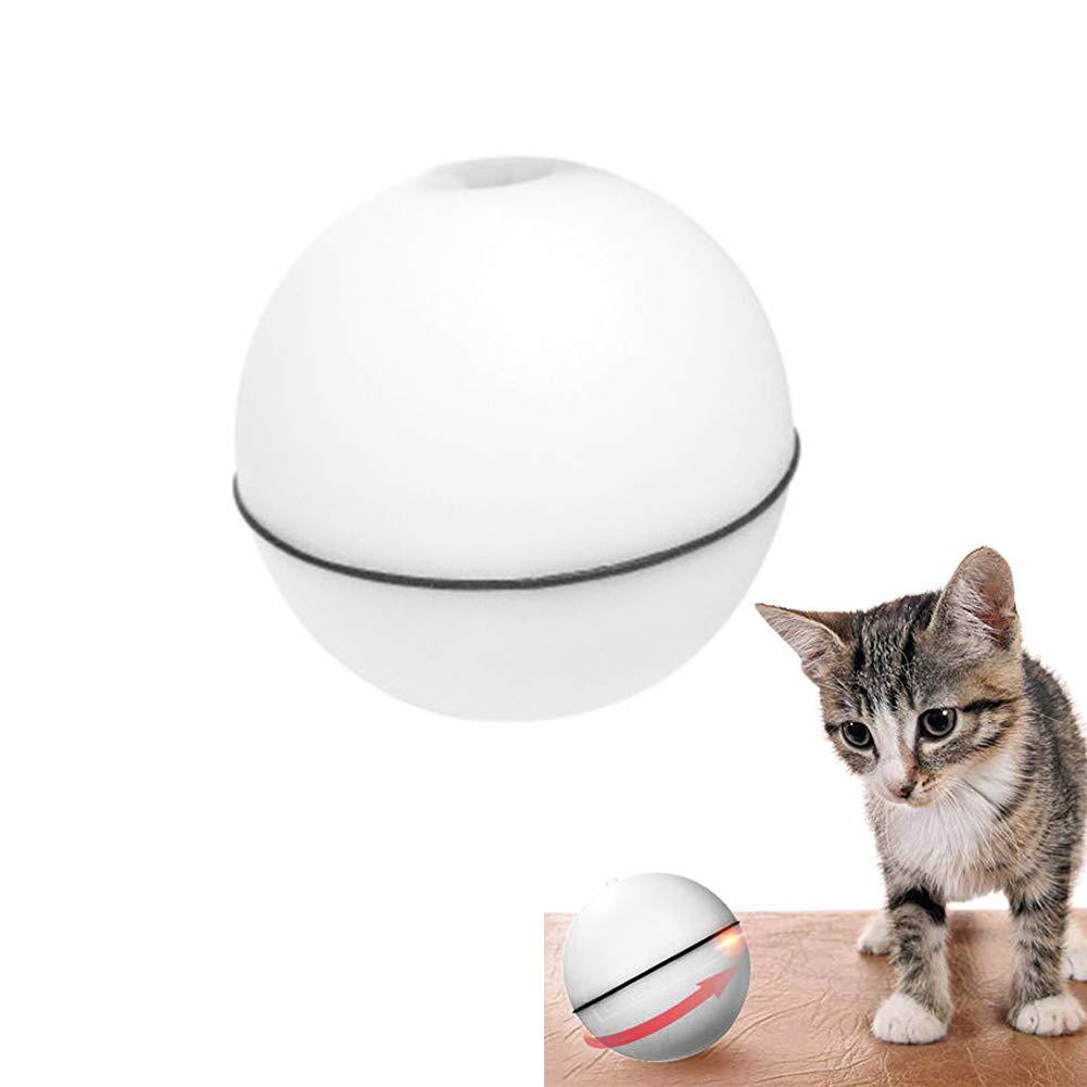Bola el/éctrica Bola de Carga USB de Giro autom/ático de 360 Grados Juguete Interactivo para Gatos con luz LED para Gatitos y Cachorros Juguete para Gatos