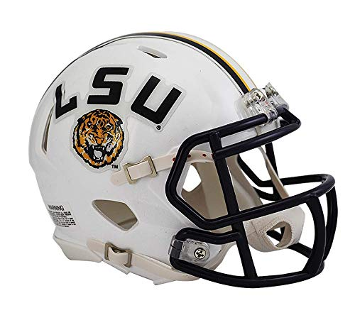 NCAA Louisiana State (LSU) Fighting Tigers White Speed Mini Helmet