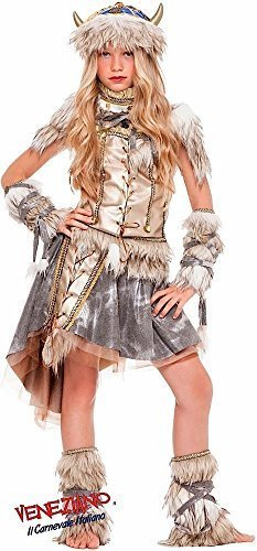 Italian Made Deluxe Prestige Collection Girls Viking School Book Day Week Halloween Fancy Dress Costume Outfit Age 3-10 years (5 years)