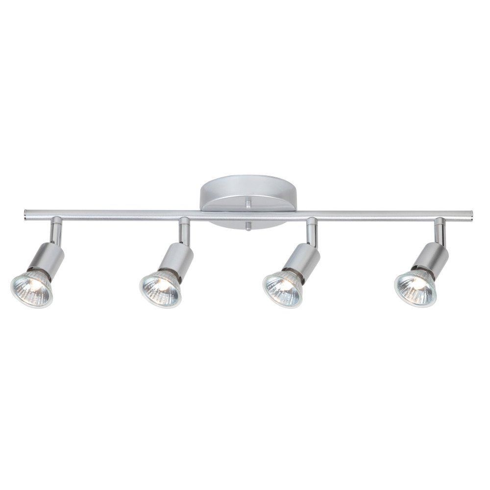 Globe Electric Payton 4-Light Adjustable Track Lighting Kit, Matte Silver Finish, 58932 by Globe Electric (Image #5)