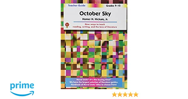 October sky teachers guide by novel units inc novel units inc october sky teachers guide by novel units inc novel units inc 9781581308167 amazon books fandeluxe Image collections