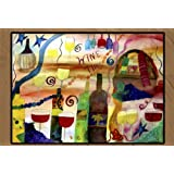 Wine Time Floor Mat size 24 x 36