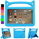 All-New F i r e HD 8 Kids Case - Riaour Light Weight Shock Proof Handle Friendly Stand Kid-Proof Case for All New A m a z o n F i r e 8 inch Display Tablet Cover(2016&2017 Release) (Blue)