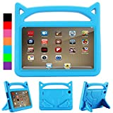 PC Hardware : All-New F i r e HD 8 Kids Case - Riaour Light Weight Shock Proof Handle Friendly Stand Kid-Proof Case for All New A m a z o n F i r e 8 inch Display Tablet Cover(2016&2017 Release) (Blue)