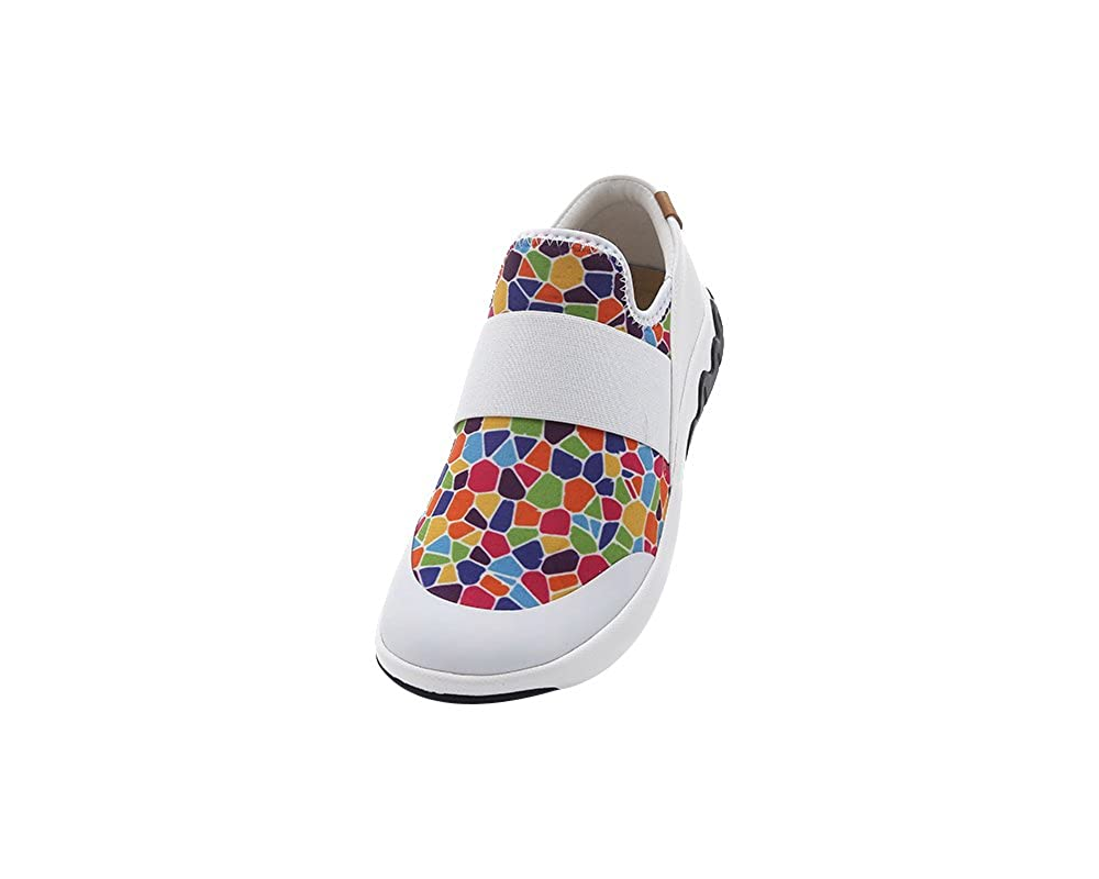 UIN Bunte Damen Stained Glass Bunte UIN Lycra Loafer Schuhe Mehrfarbig 4f238b