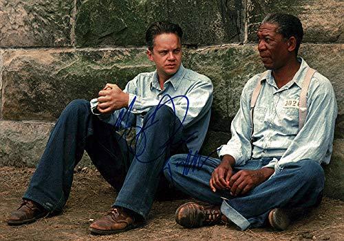 Shawshank Redemption (Tim Robbins & Morgan Freeman) 11x14 Cast Photo Signed In-Person
