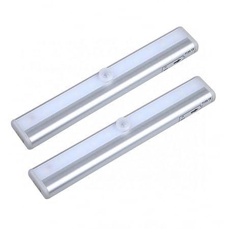 Noza Tec 10 LED Closet Cabinet LED Light Bar, Battery Operated Wireless  Motion Sensor Night