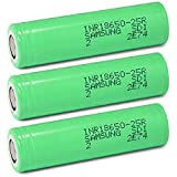 3 Samsung INR18650-25R 18650 2500mAh 3.7v Rechargeable Flat Top Batteries